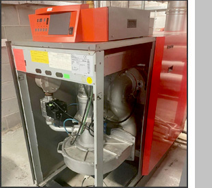 Domestic heating installation